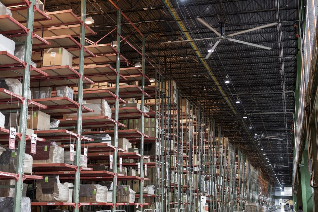 Industrial Hvls Fans Integrated With Powerful Ventilation