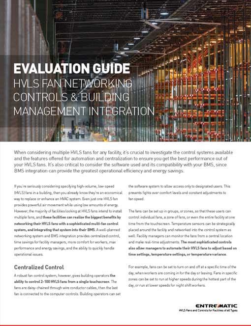 Evaluation Guide: HVLS Fan Networking Controls & Building
